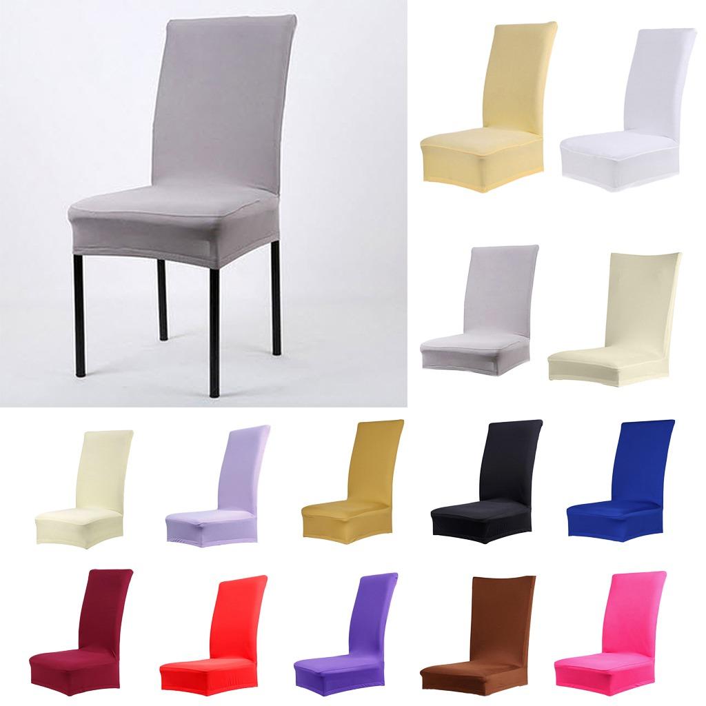 Funda para silla de comedor elegante y corta gris 2 uds - Chaises de couleur pour salle a manger ...