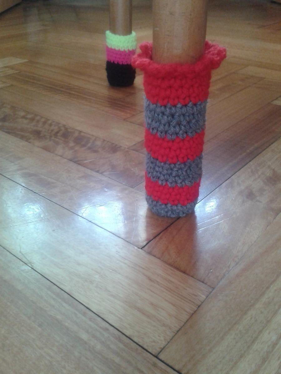 Funda Protectora Para Patas De Sillas Al Crochet En Lana 100