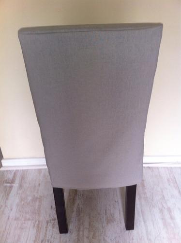 Funda para sillas en lino confecci n a medida en mercado libre - Funda silla escritorio ...