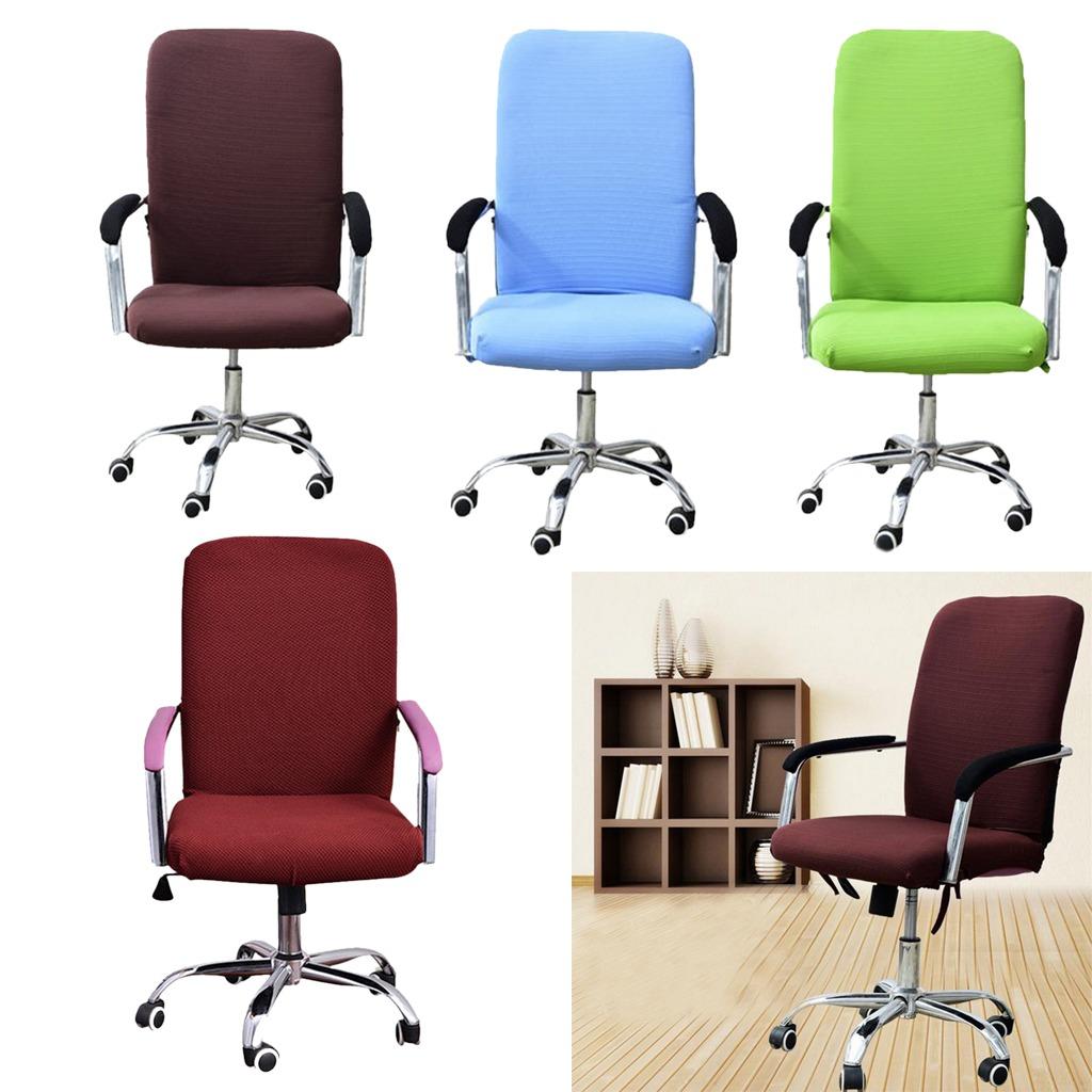 funda para silla silla giratoria de oficina sill n celeste