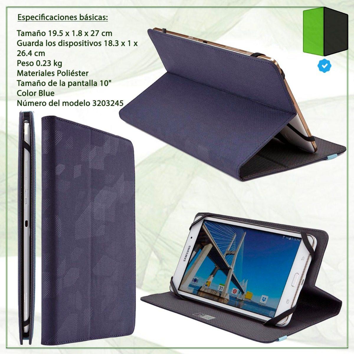 0e15a7f40 Funda Para Tablet 9 A 10 Case Logic Ceue-1110 Indigo Slim -   936