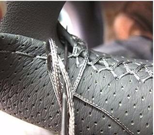 funda para volante en piel genuina perforada