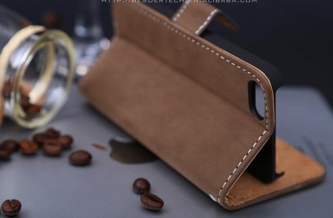 Funda case cartera piel iphone 5 5s envi gratis en mercado libre - Funda de piel para iphone 5 ...