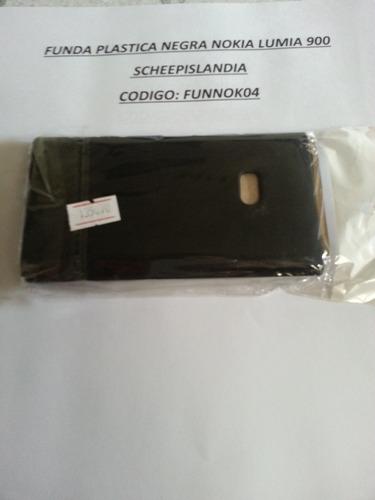 funda plastica negra nokia lumia 900 funnok04