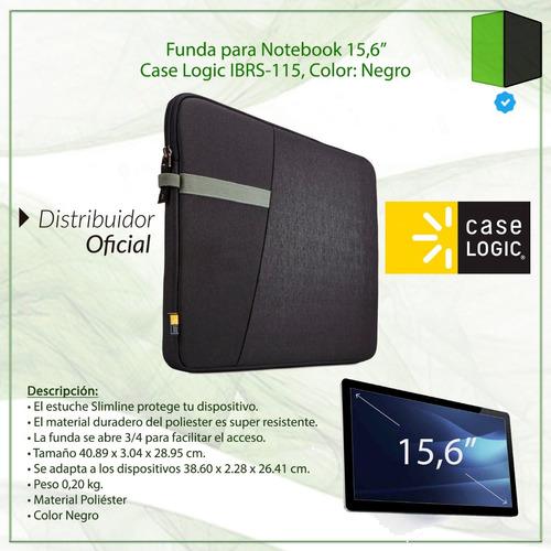 funda porta notebook 15,6 case logic ibrs-115 ibira negra