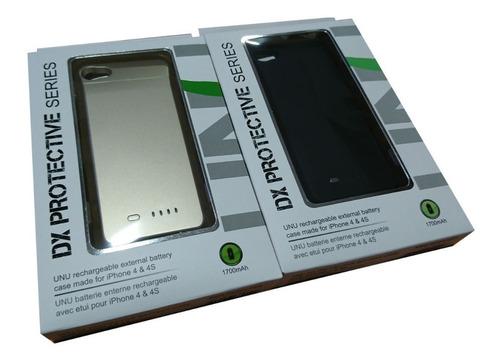 funda power case iphone 4/4s marca unu blanco o dorado