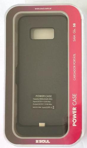 funda power case samsung s8+ plus cargador - factura a / b