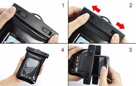 funda premium impermeable  y sumergible para smartphone