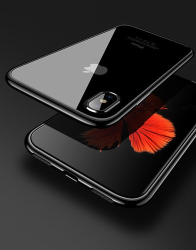 funda premium iphone x + cristal templado full body