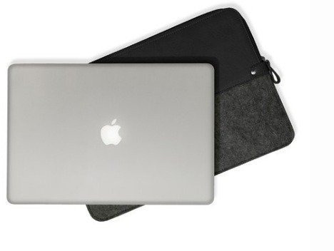 funda premium para macbook air 13¨  cuero y fieltro