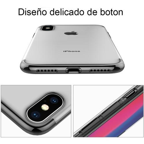 funda premium soft tpu borde negro para iphone xr