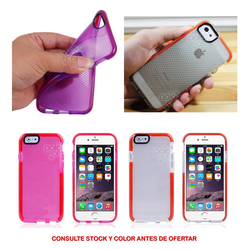 funda premium tech21 iphone 6 6s plus transparente colores