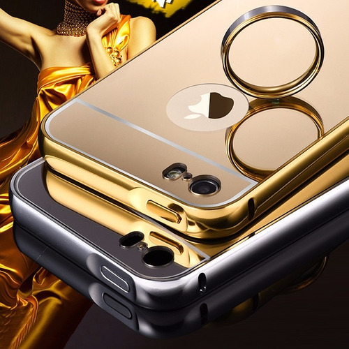 funda protecotr bumper aluminio case tipo espejo  iphone 6s