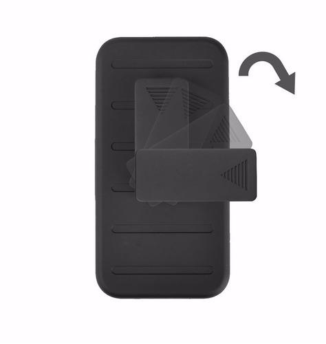 funda protector 3 en 1 uso rudo con clip alcatel pop 4 5.0
