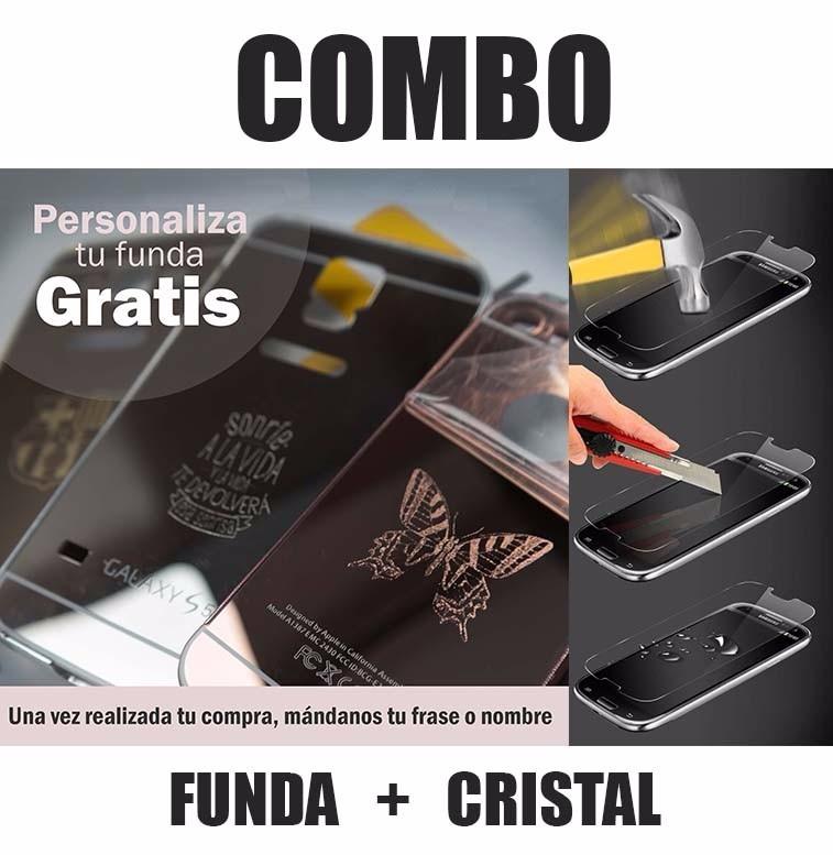 Funda Protector Aluminio Espejo   Cristal Huawei Y5 2 Y5 Ii