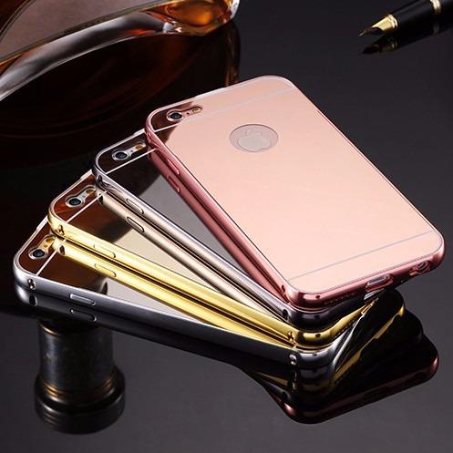 Funda protector aluminio espejo cristal iphone 7 8 plus en mercado libre - Aluminio espejo ...