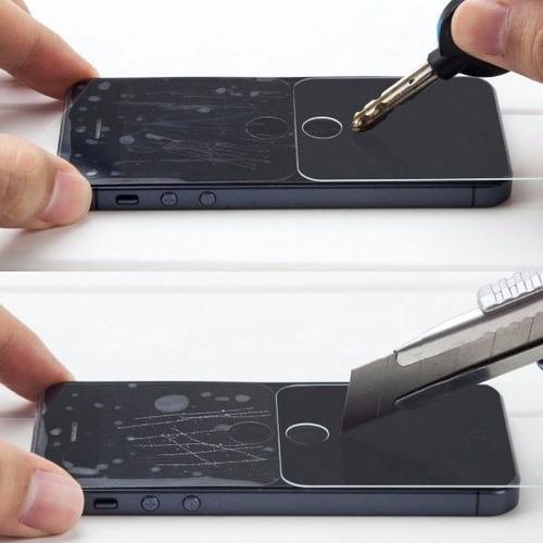 funda protector aluminio tipo espejo case + cristal iphone 4