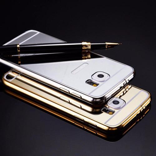 funda protector aluminio tipo espejo samsung s6 edge plus