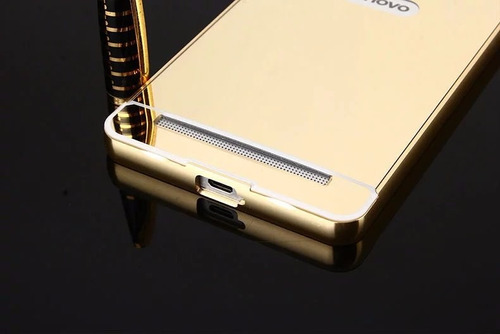 funda protector bumper aluminio case tipo espejo lenovo k6