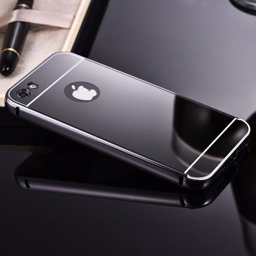 funda protector bumper aluminio tipo espejo iphone 6 plus