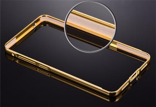 funda protector bumper aluminio tipo espejo metálico htc 626