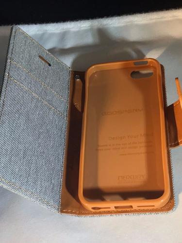 funda protector canvas goospery  iphone 4 + mica glass