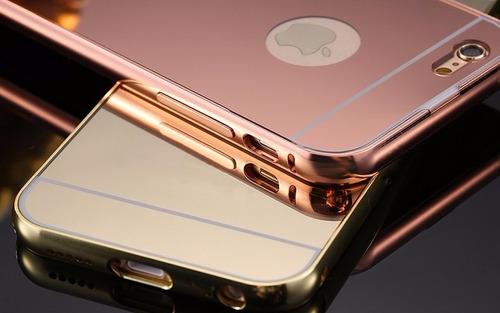 funda protector case aluminio tipo espejo iphone 5 5s se