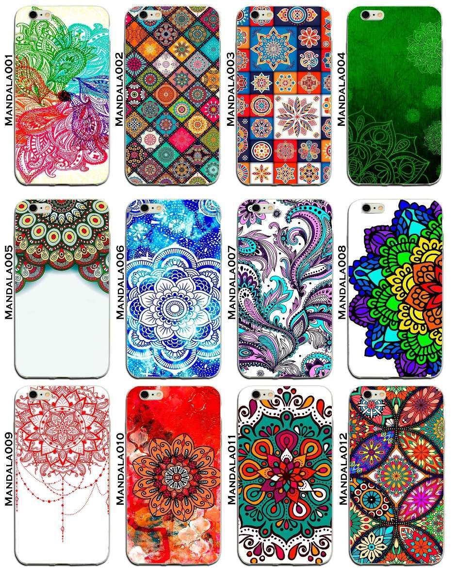 Funda Protector Case Jelly Blu Vivo 6 Mandalas Colores Flor