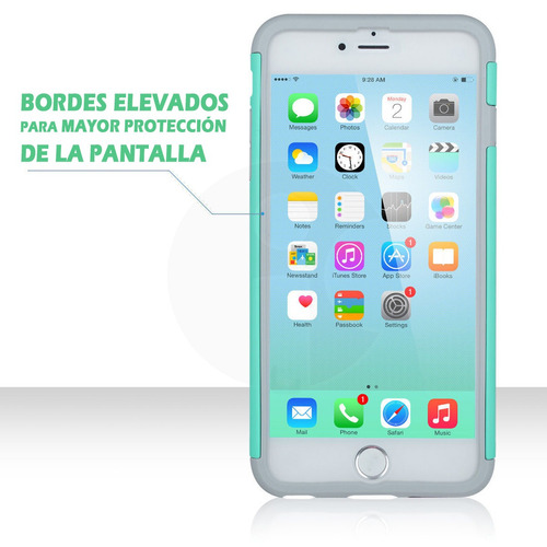 funda protector case rudo mujer iphone 5 se 6 6s 7 8 plus x