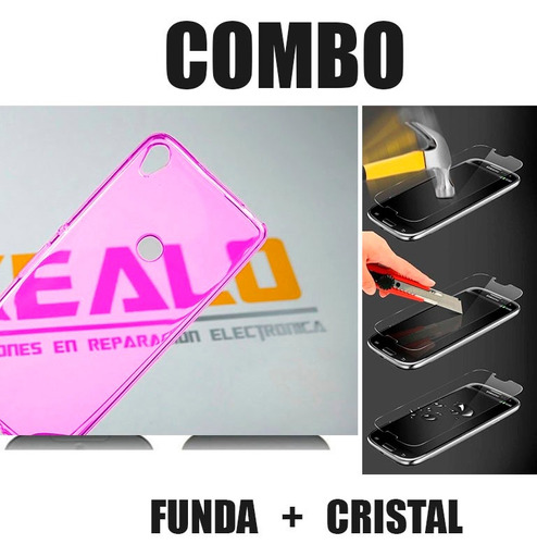 funda protector case tpu  alcatel shine lite + cristal