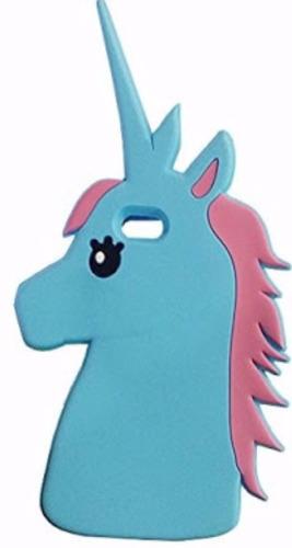funda protector case unicornio azul blanco iphone 5 5s 6 6s