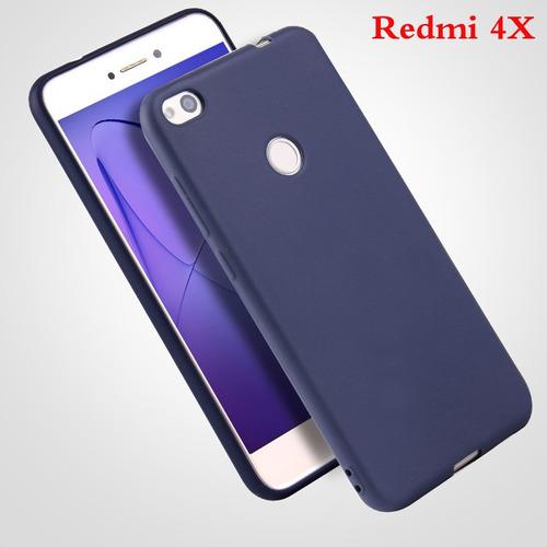 funda protector case xiaomi redmi 4x de tpu silicona azul