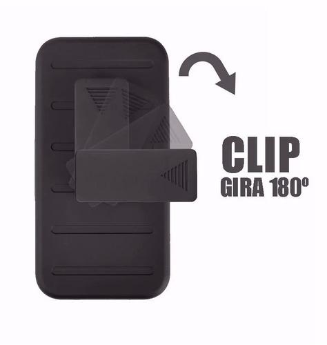 funda protector clip uso rudo resistente + cristal lenovo k6