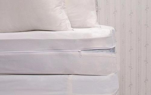 funda protector colchón anti chinches queen size alta gama