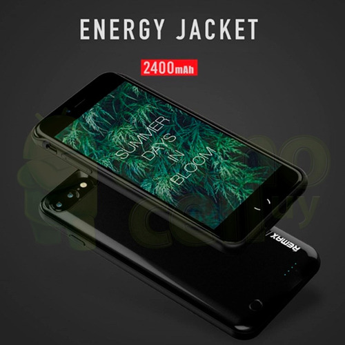 funda protector con cargador power bank iphone 7 / 7 plus ®