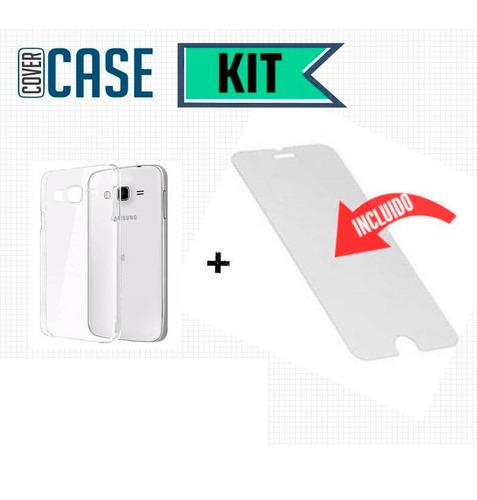 funda protector crystal case + cristal samsung j7 neo j701