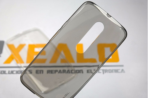 funda protector crystal case flexible moto x style xt1572