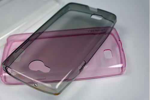 funda protector crystal case + mica de cristal lg k4 k121
