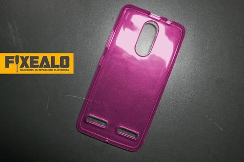 funda protector crystal case tpu + cristal  glass lenovo k6