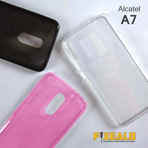 funda protector crystal case tpu flexible alcatel a7 5090y