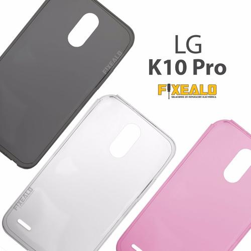 funda protector crystal case tpu flexible lg k10 pro