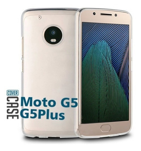 funda protector crystal case tpu flexible moto g5 / g5 plus