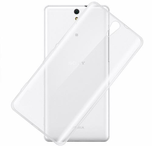 funda protector crystal case tpu flexible sony c5 / c5 ultra