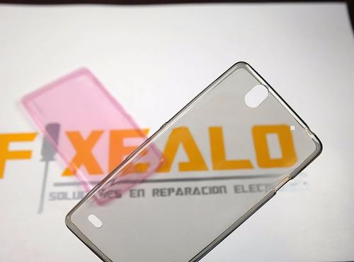 funda protector crystal case tpu transparente sony c4 e5306