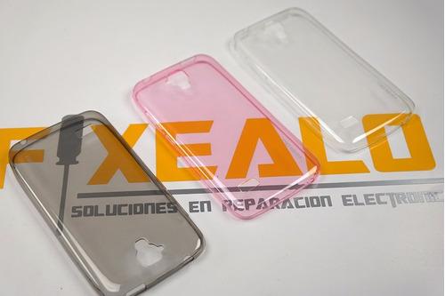 funda protector crystal + cristal alcatel pop 4 plus ot5056