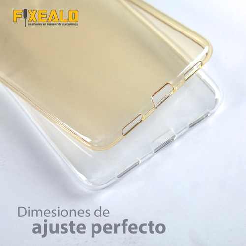 funda protector crystal + cristal huawei gw metal y7 prime