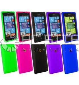 d573a1780dd Funda / Protector De Silicona Para Celular Nokia Lumia 520 - $ 98,00 ...