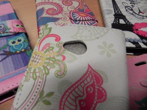 funda protector flip cover billetera nokia lumia 640 diseño