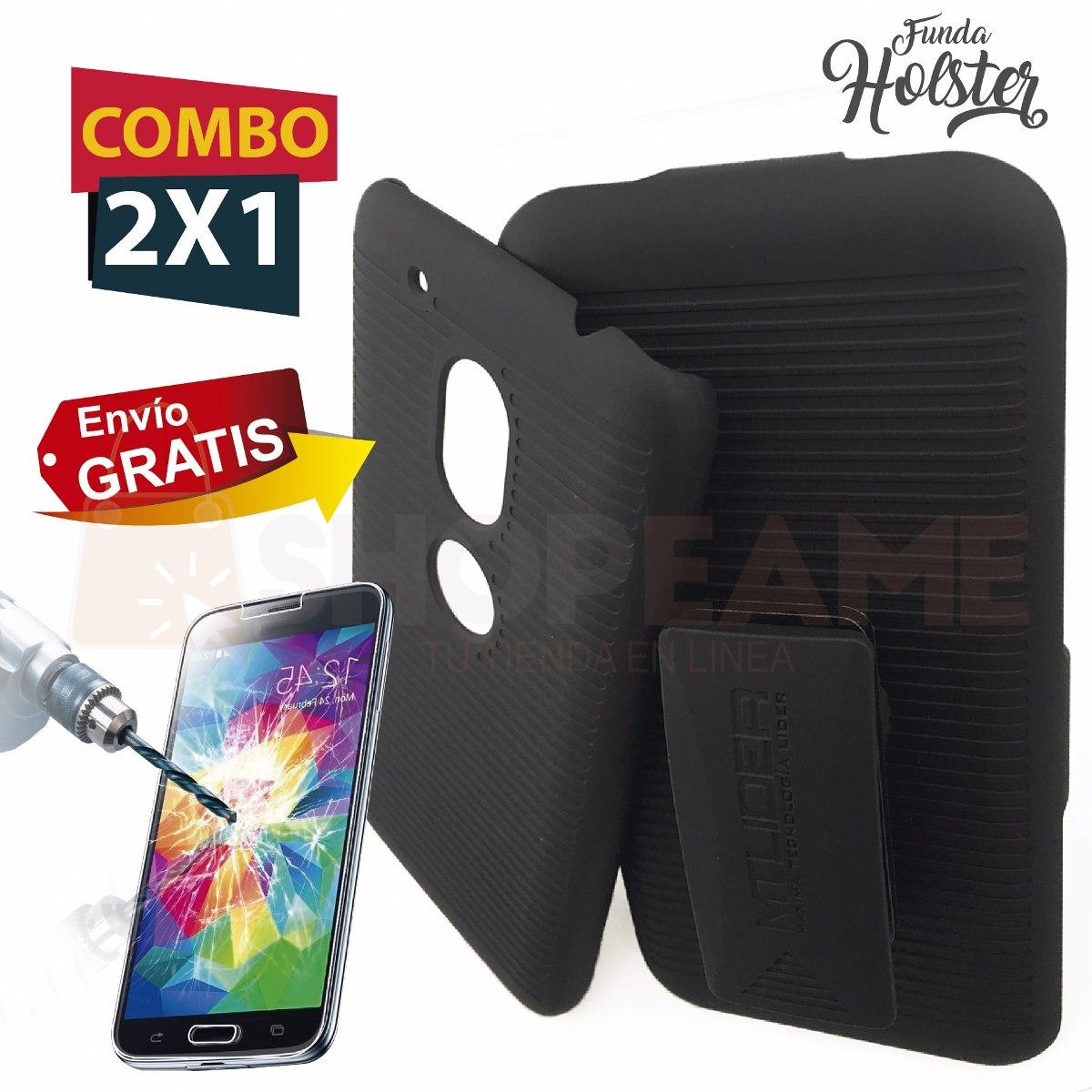 cfd117a8c30 funda protector holster case clip + cristal moto g4 play. Cargando zoom.