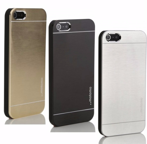 funda protector iphone 6/6s/6 plus fibra aluminio cepillado